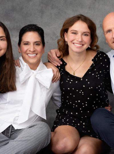 Een gelukkig familieportret